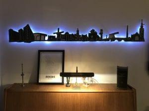 Countour van de Skyline van Overschie inclusief verlichting